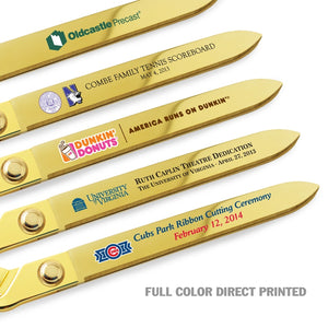 "15"" Gold Plated Ceremonial Ribbon Cutting Scissors"