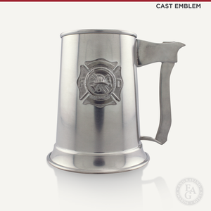 Custom Engraved Cast 16oz Firefighter Pewter Mug