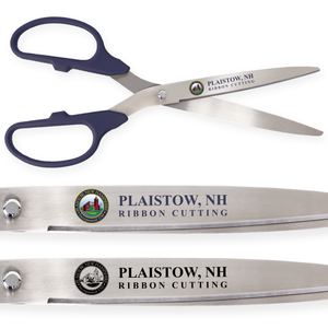 25in Giant Navy Blue Ribbon Cutting Scissors with Silver Blades - Custom