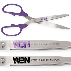 25in Giant Purple Ribbon Cutting Scissors with Silver Blades - Custom