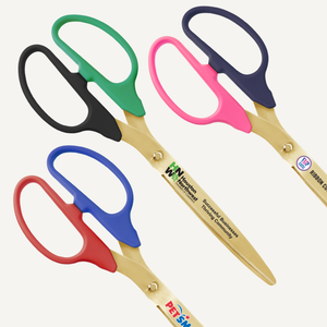25in Two Color Handle Ribbon Cutting Scissors with Gold Blades
