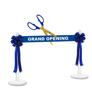 "Deluxe Grand Opening Kit - 25"" Ceremonial Scissors with Gold Blades"