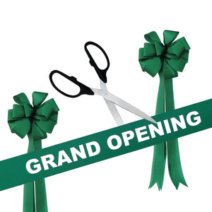 "Grand Opening Kit - 25"" Ribbon Cutting Scissors with Silver Blades"