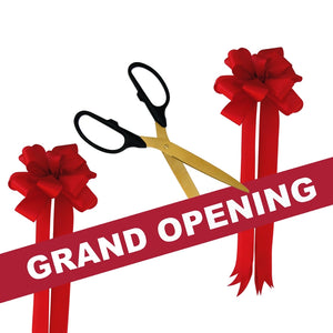 "Grand Opening Kit - 25"" Ribbon Cutting Scissors with Gold Blades"