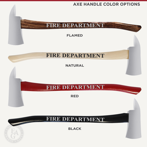 42x16 Oak Firefighter Perpetual Award Plaque - Chrome Axe
