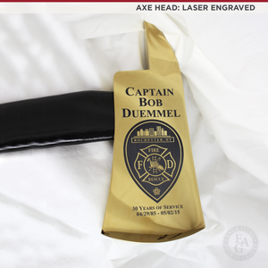 "36"" Gold Plated Ceremonial Firefighter Axe - Black"