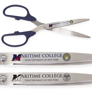 36in Giant Navy Blue Ribbon Cutting Scissors with Silver Blades - Custom