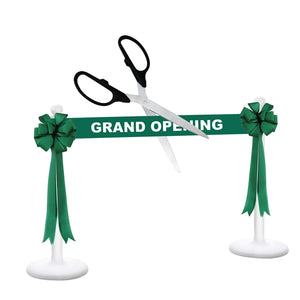 "Deluxe Grand Opening Kit - 36"" Ceremonial Scissors with Silver Blades"