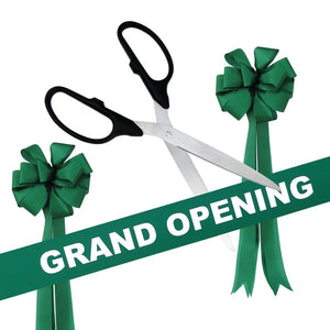 "Grand Opening Kit - 36"" Ribbon Cutting Scissors with Silver Blades"