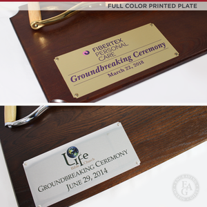 "42"" x 16"" Full Size Shovel Plaque - Full Color Printed Plate"
