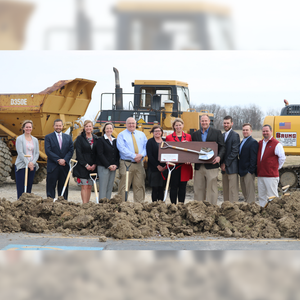 "42"" x 16"" Full Size Shovel Plaque - Gilbane Groundbreaking Ceremony Photo"