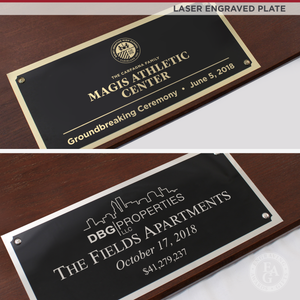 "42"" x 16"" Full Size Shovel Plaque - Laser Engraved Plate"