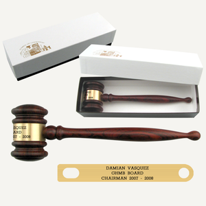 "8"" Imported Rosewood Gavel with Gift Box"