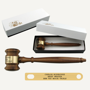"10-1/2"" American Walnut Gavel with Gift Box"
