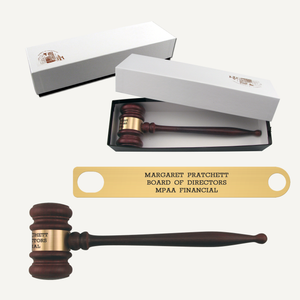 "10-1/2"" American Rosewood Gavel with Gift Box"