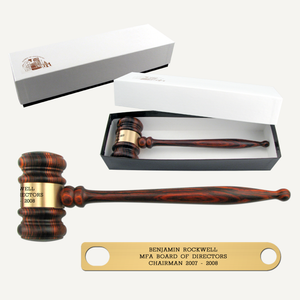 "10-1/2"" Imported Rosewood Gavel with Gift Box"