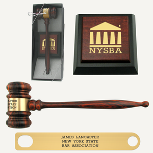 Imported Rosewood Presentation Gavel and Sound Block Set
