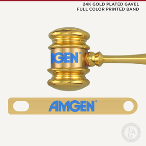 24K Gold Plated Gavel Full Color Printed Band