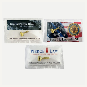 Gavel Lapel Pin Presentation Cards