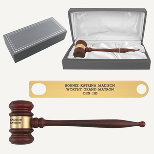 American Rosewood Gavel and Case Presentation Set