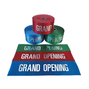 4in Grand Opening Ribbon - Silver Lettering