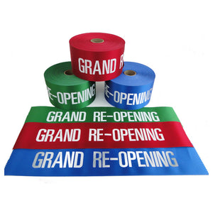 "4"" Wide GRAND RE-OPENING Ribbon"