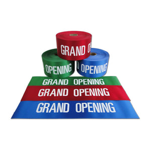 "4"" Wide Grand Opening Ribbon - White Lettering"