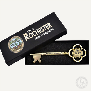 "5-1/2"" Gold Plated Ceremonial Key"
