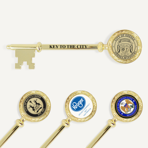"5-3/8"" Gold Plated Ceremonial Key"