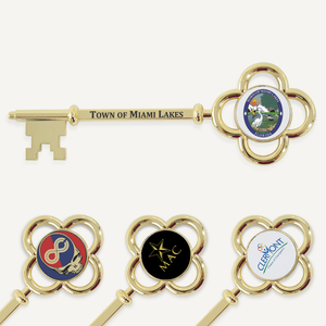 "5-7/8"" Gold Plated Ceremonial Key"