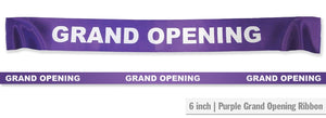 "6"" Wide GRAND OPENING Ribbon"