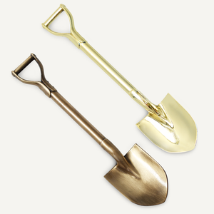 8 3/8 inch Gold and Antique Bronze Miniature Shovels