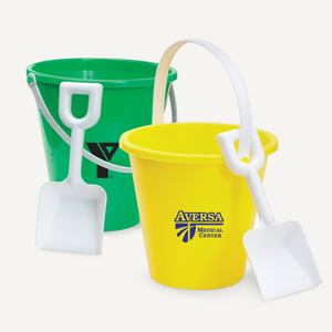 8 inch White Plastic Shovel and Pail