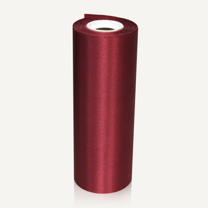 Burgundy 8in Wide Satin Ceremonial Ribbon