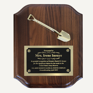 8 x 10 inch Miniature Shovel Plaque