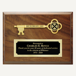 "8"" x 6"" Ceremonial Key Plaque"