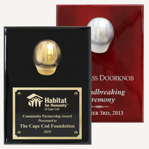 "9"" x 12"" Miniature Hard Hat Plaque - Metallic"