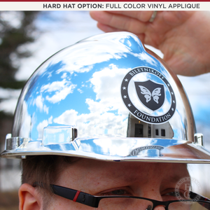 Chrome Plated Groundbreaking Hard Hat - A-Style - Vinyl Applique