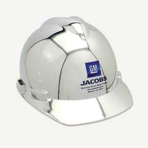 Chrome Plated Groundbreaking Hard Hat - A-Style