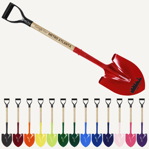 Custom Painted Groundbreaking Shovel - D-Handle