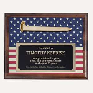 Custom Printed Ceremonial Spike Plaque