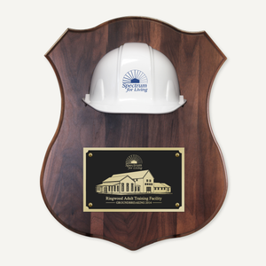 Full Size Hard Hat Plaque - Assorted Color