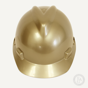 Gold Finish Groundbreaking Hard Hat - Front