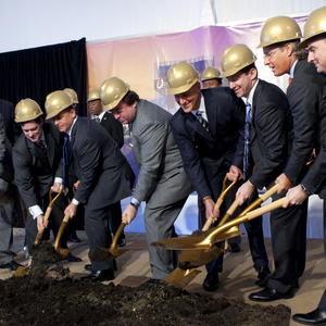 Gold Finish Groundbreaking Hard Hat - Horseshoe Casino Groundbreaking