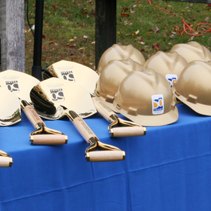 Gold Finish Groundbreaking Hard Hat - Pace University Groundbreaking