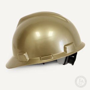 Gold Finish Groundbreaking Hard Hat - Side