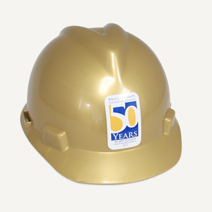 Gold Finish Groundbreaking Hard Hat