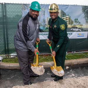 Gold Plated Groundbreaking Hard Hat - Broward County Groundbreaking