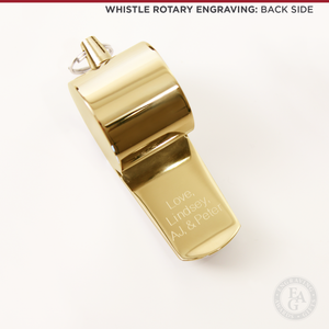 Engraved Gold Whistle