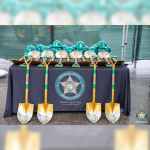 Groundbreaking Ceremonial Shovel Kit - Gold Finish D-Handle - Broward County Groundbreaking Event